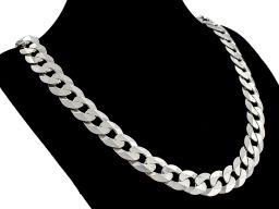 Pancerka 12mm - srebrny łańcuszek męski