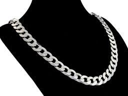 Pancerka 10mm - srebrny łańcuszek męski