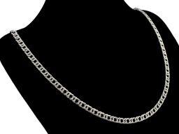 Romb 4mm - srebrny łańcuszek męski