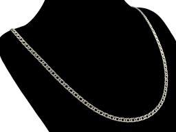 Romb 3mm - srebrny łańcuszek męski
