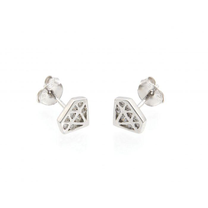 Kolczyki srebrne diamenty