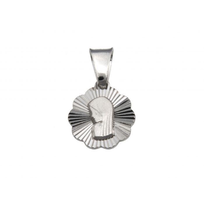 Srebrny medalik - Matka Boska Fatimska