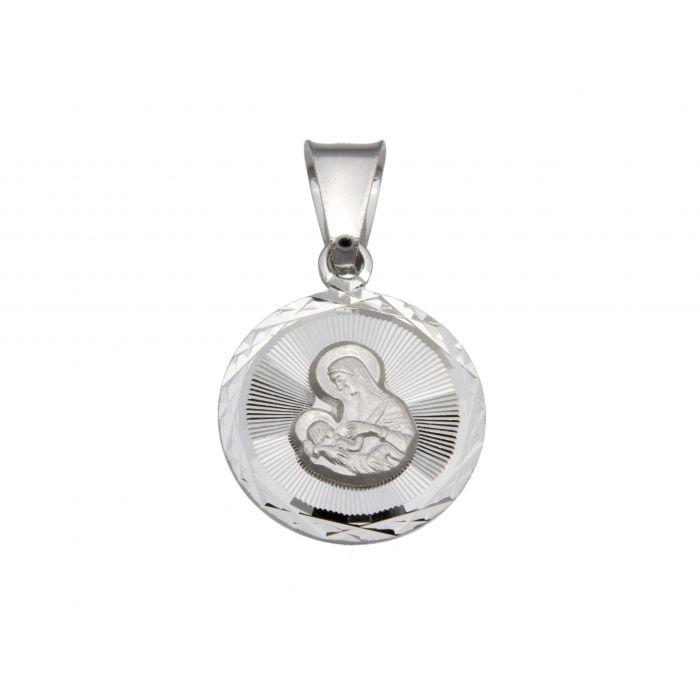 Srebrny medalik - Matka Boska Karmiąca