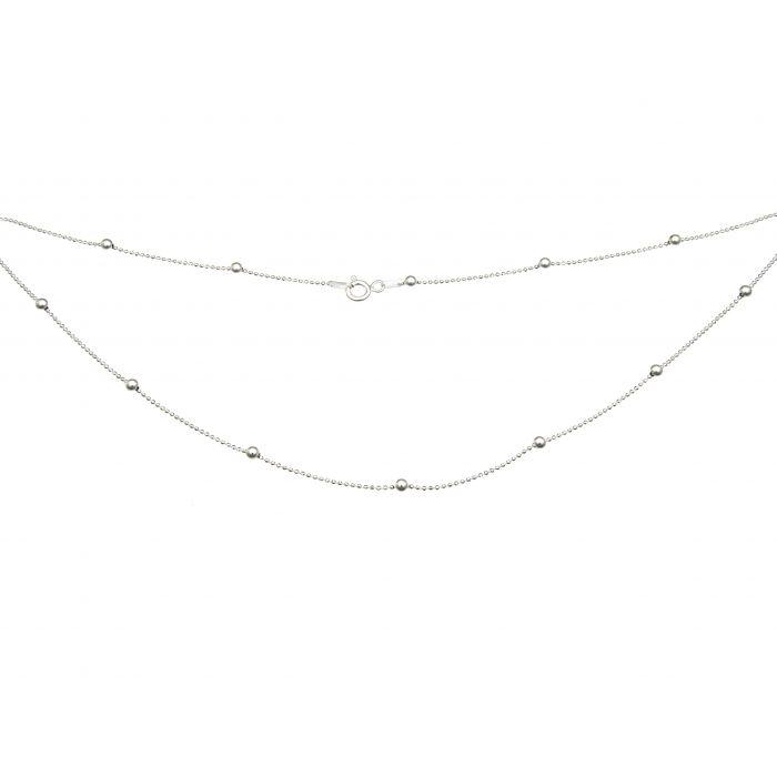 Łańcuszk srebrny z kuleczkami