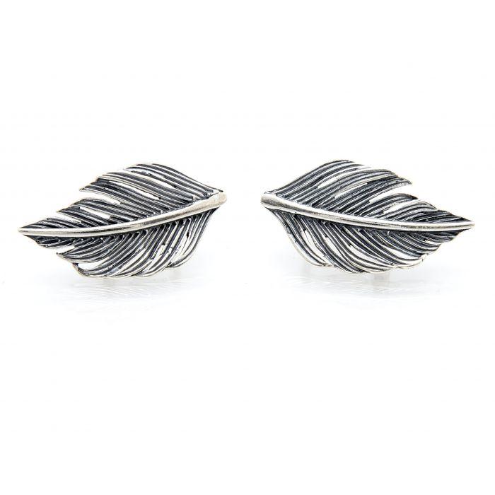 Kolczyki srebrne - liście
