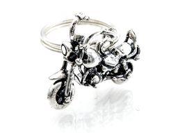 Srebrny brelok  - motocykl