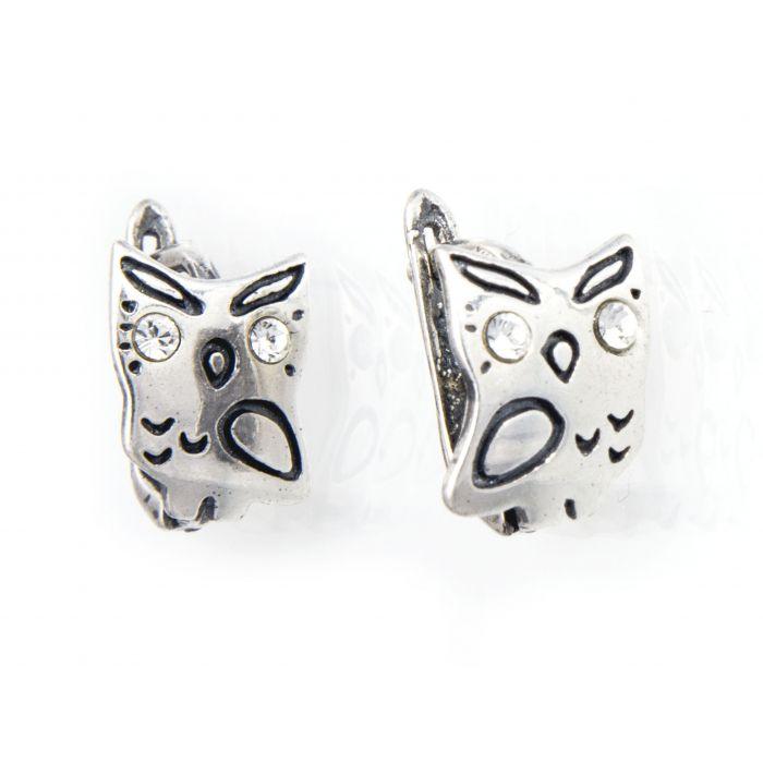 Kolczyki srebrne - sowy