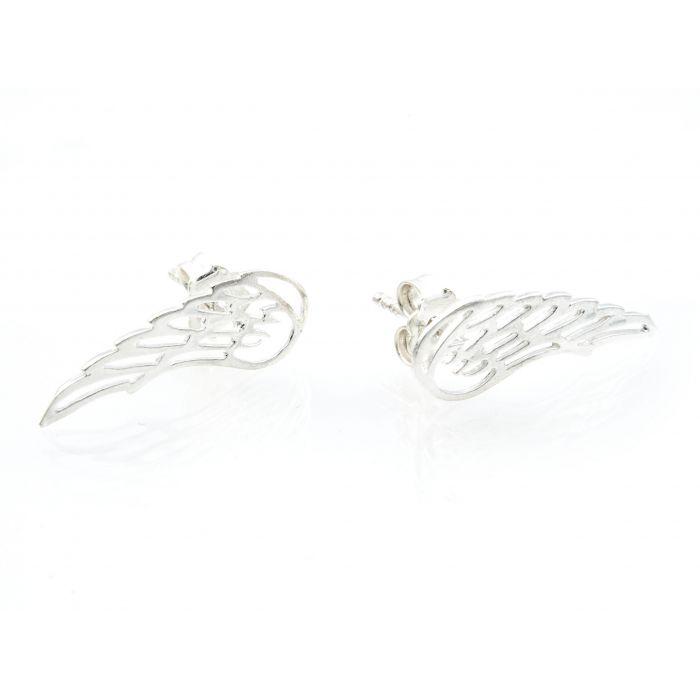 Kolczyki srebrne - skrzydła