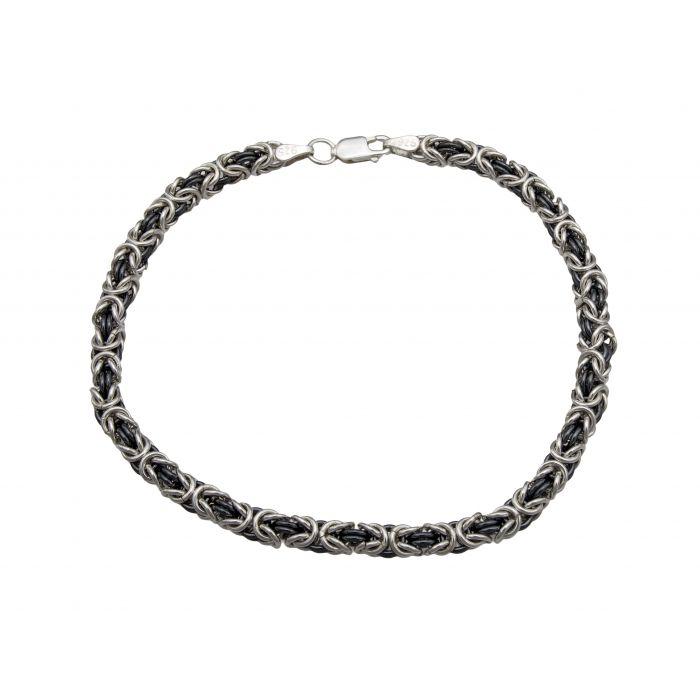 Bizantyna - srebrna bransoleta męska
