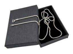 Snake 1,6mm - srebrny łańcuszek damski