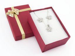 Komplet biżuterii srebrnej - motylki