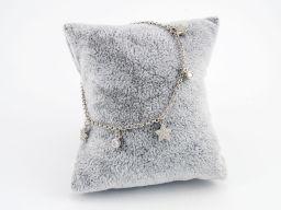 Bransoletka srebrna rodowana z gwiazdkami