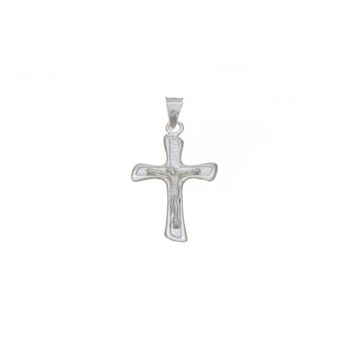 Srebrny krzyżyk męski z figurką Jezusa