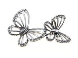 Broszka srebrna - motyle