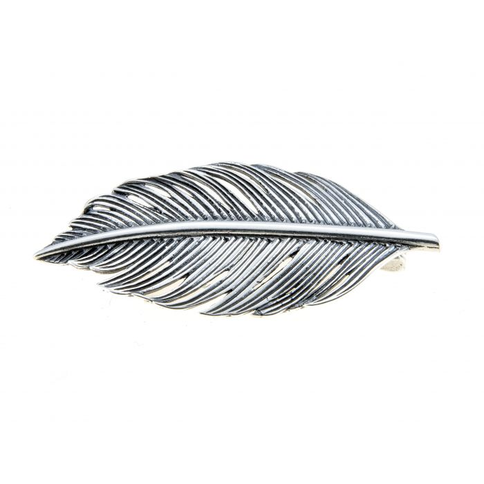Broszka srebrna - pióro