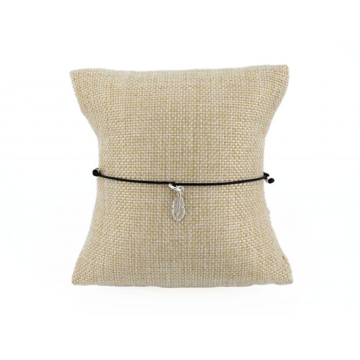 Bransoletka sznurkowa - piórko