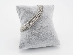 Bransoletka srebrna - potrójna pancerka