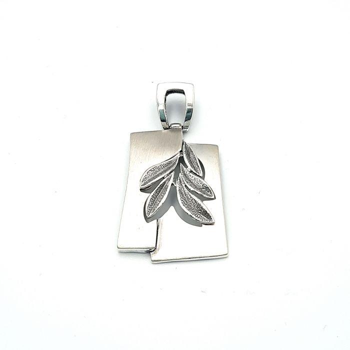 Wisiorek srebrny liście