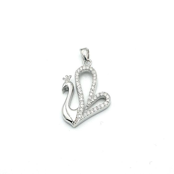 Wisiorek srebrny łabędź