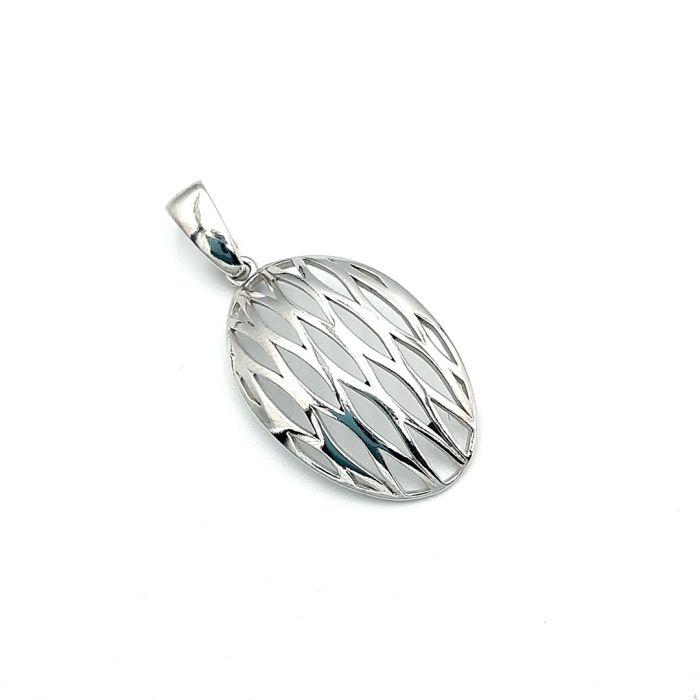 Wisiorek srebrny rodowany ażurowy