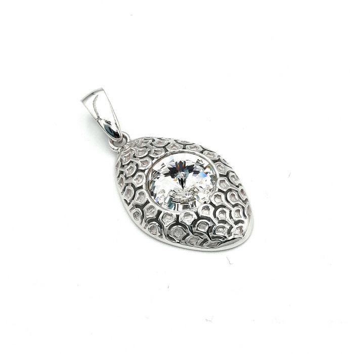 Wisiorek srebrny z kryształem Swarovskiego