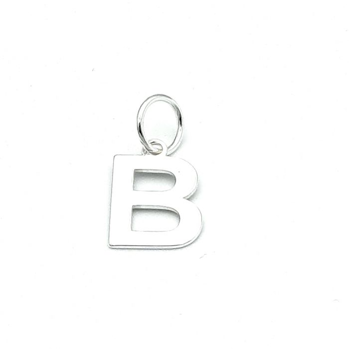 Wisiorek srebrny literka B