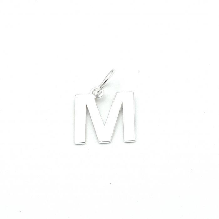 Wisiorek srebrny literka M