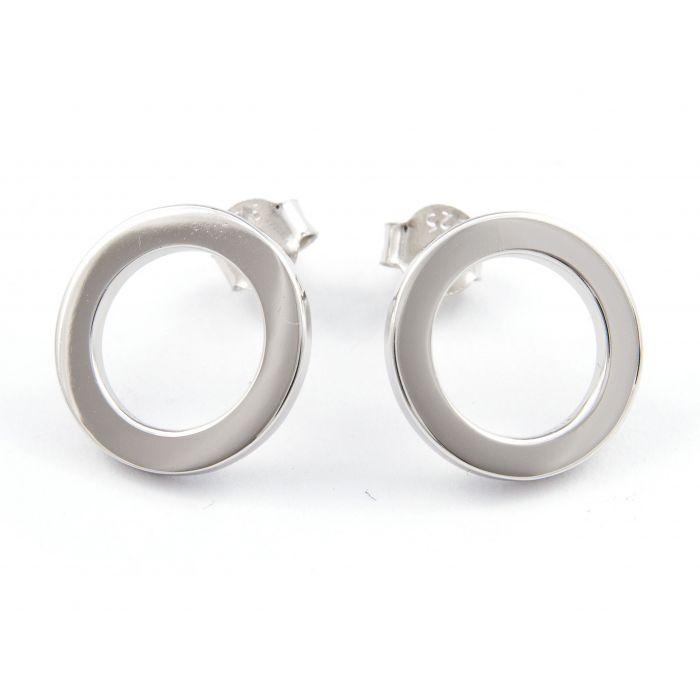 Koła - kolczyki srebrne rodowane