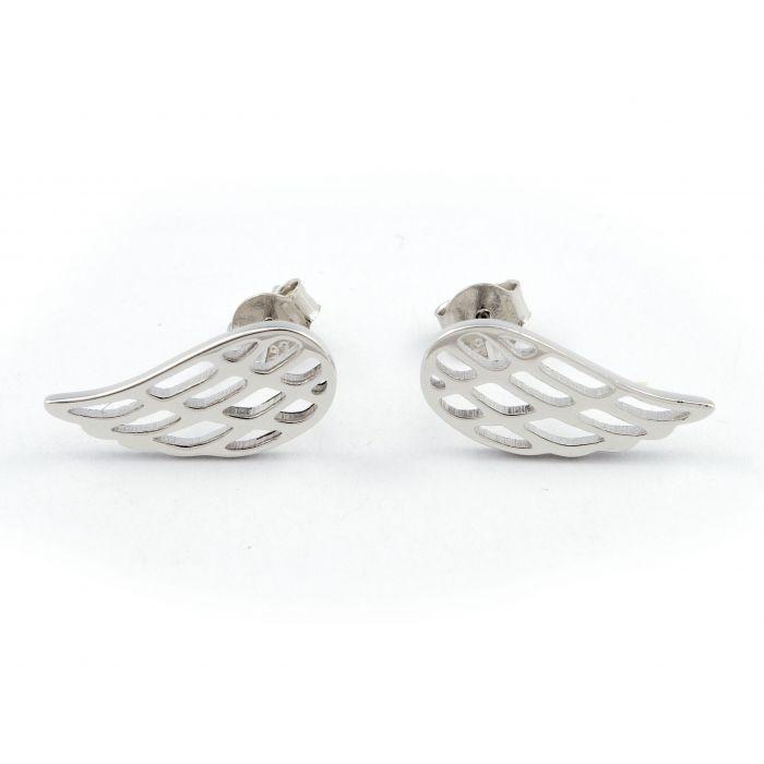 Skrzydła - kolczyki srebrne rodowane