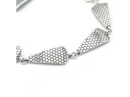 Bransoletka srebrna oksydowana