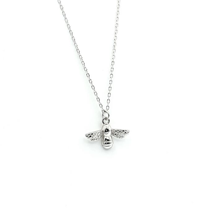 Naszyjnik srebrny rodowany - pszczoła