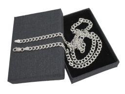 Pancerka 4mm - srebrny łańcuszek męski