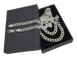 Pancerka 5mm - srebrny łańcuszek męski