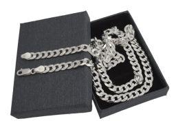 Pancerka 6mm - srebrny łańcuszek męski