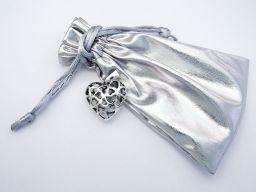 Wisiorek srebrny 3D w kształcie serca