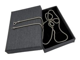 Snake 1,9mm - srebrny, rodowany łańcuszek damski