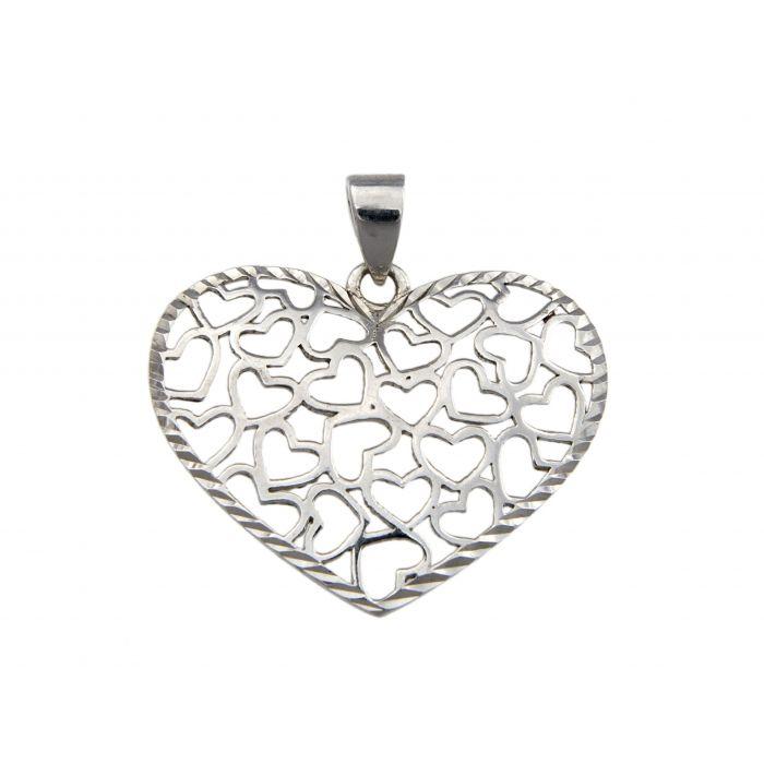 Wisiorek srebrny w kształcie serca