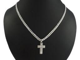 Srebrny krzyżyk męski bez figurki