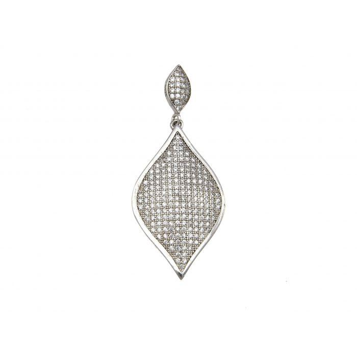 Wisiorek srebrny z cyrkoniami