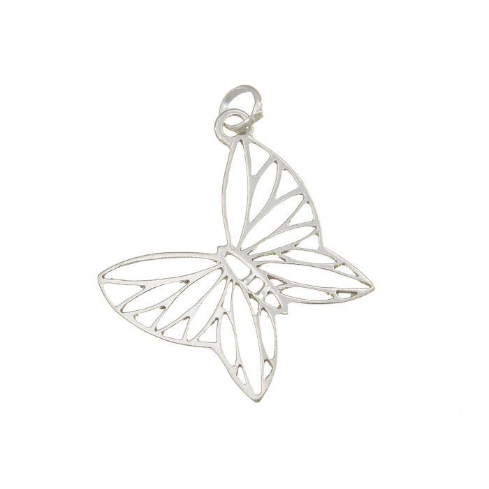 Wisiorek srebrny w kształcie motyla