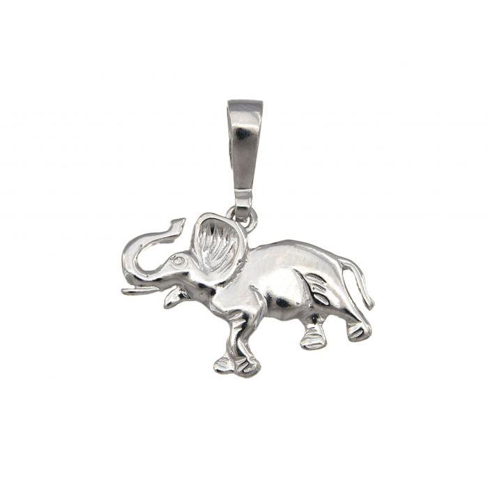 Wisiorek srebrny - słoń