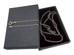 Łańcuszek srebrny rodowany