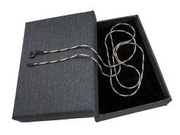 Linka okragła dwukolorowa - łańcuszek srebrny rodowany