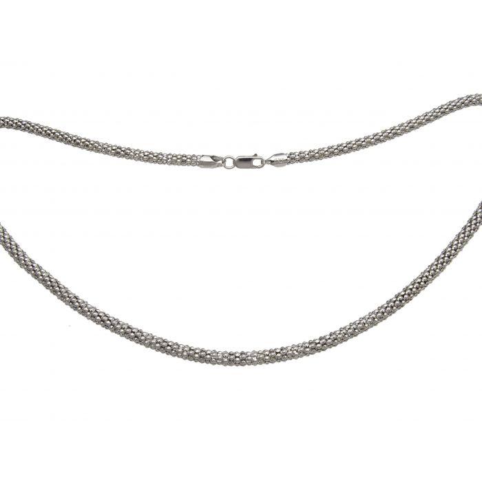 Łańcuszek srebrny dmuchany rodowany