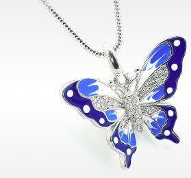 Wisiorek z motylem